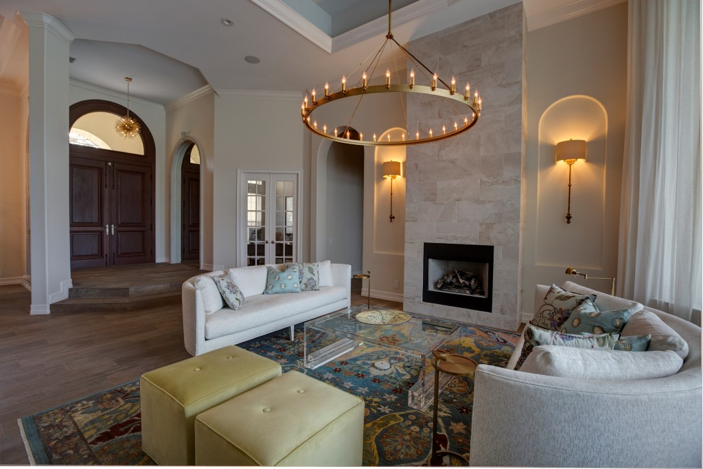 Reconfigured fireplace