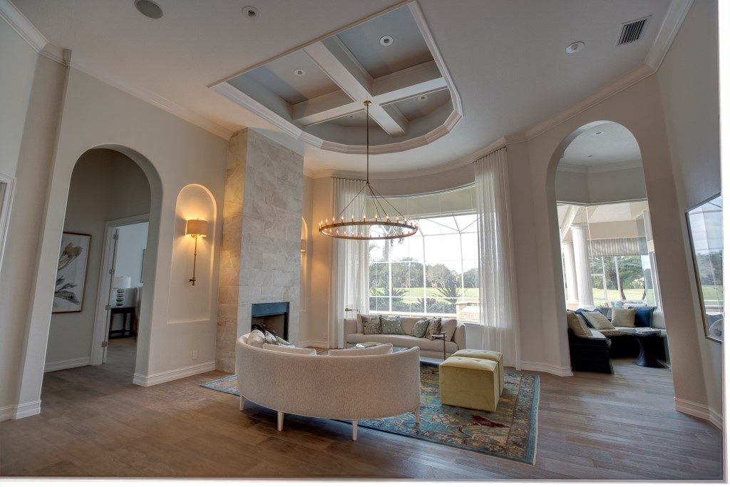 Family Room - tray ceiling