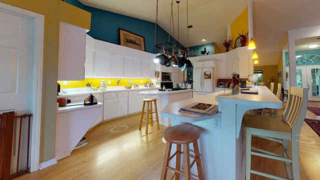 Outdated Laminate/MDF Kitchen Cabinets - before remodeling