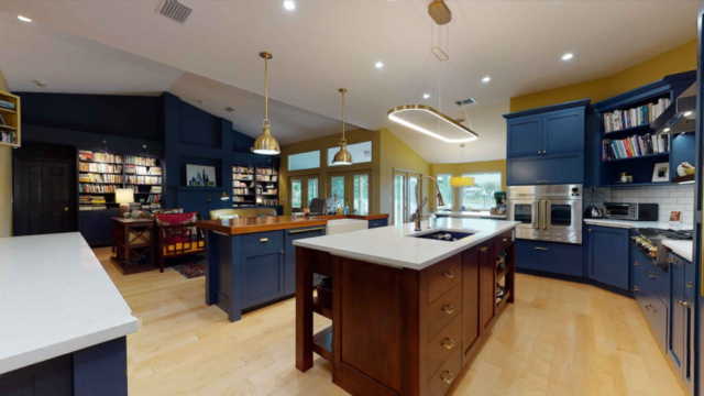 Spacious Kitchen with Goldstar and Sub Zero Appliances - after remodeling