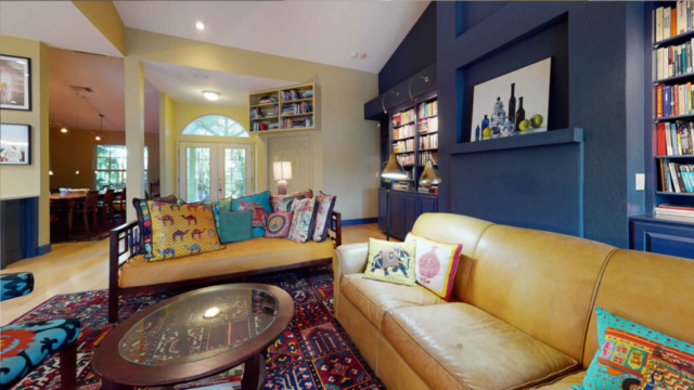 Family room with new color scheme - after remodeling