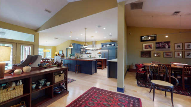 Open Floor Living Space after remodeling